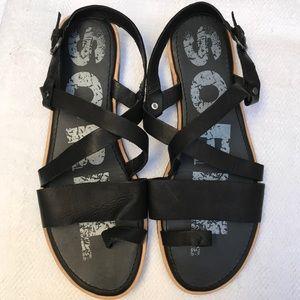 SOREL 10.5 black sandals